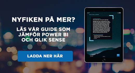 Läs vår guide som jämför Power Bi och Qlik Sense