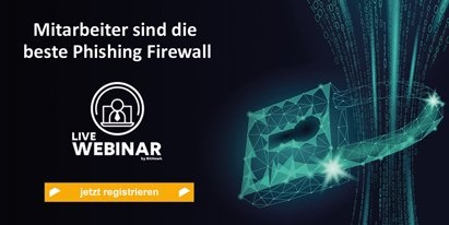 Anmeldung zum Live Webinar Phishing Firewall von KnowBe4