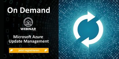 Anmeldung On Demand Webinar Microsoft Update Management