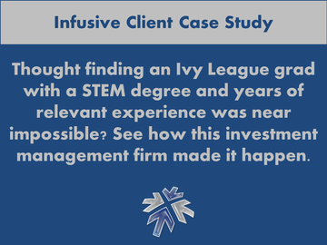 Infusive Solutions - one of NYC's premier IT staffing companies - explains filling a job spec with very specific requirements.