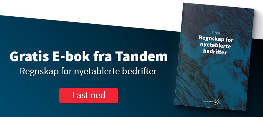 Gratis E-bok fra Tandem. Regnskap for nyetablerte bedrifter