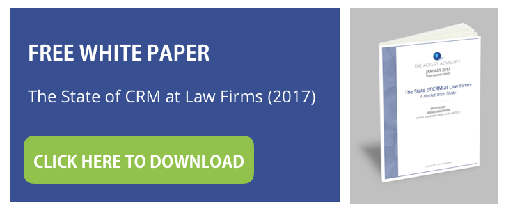Download white paper - The State of CRM at Law Firms