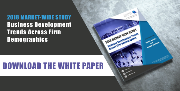 Download the white paper: Business Development Trends Across Law Firm Demographics