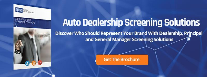 Auto Dealership Screening Solutions