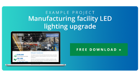Example case study and free download of LED lighting project for Werner manufacturing