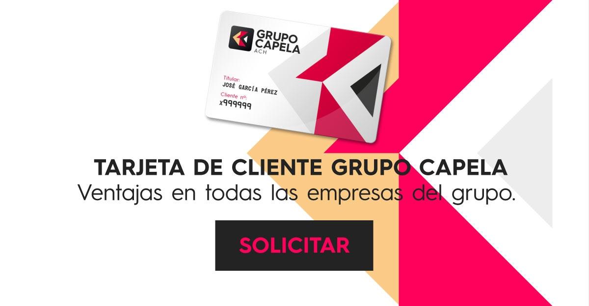 Solicita la tarjeta de cliente Grupo Capela