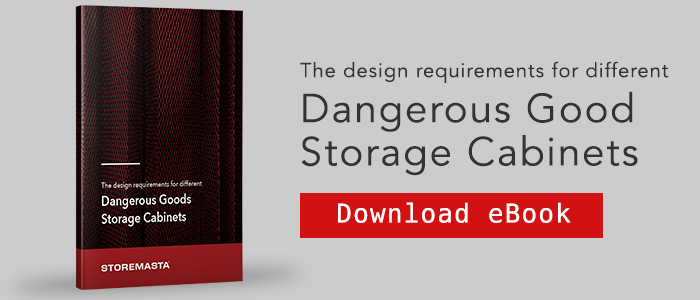 Design requirements for different dangerous goods storage cabinets