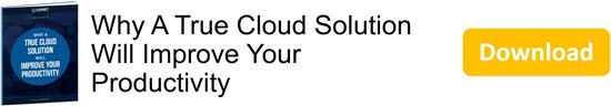 Why A True Cloud Solution Will Improve Your Productivity eBook