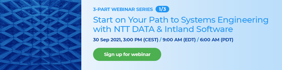 Start on Your Path to Systems Engineering with NTT DATA & Intland Software