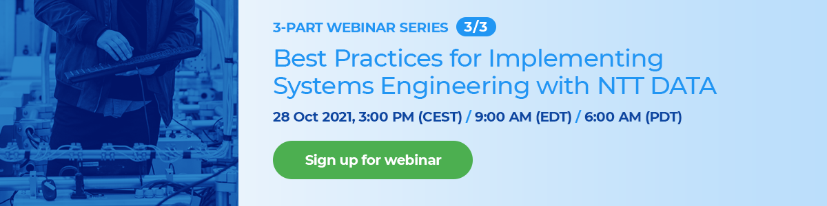 Best Practices for Implementing Systems Engineering with NTT DATA