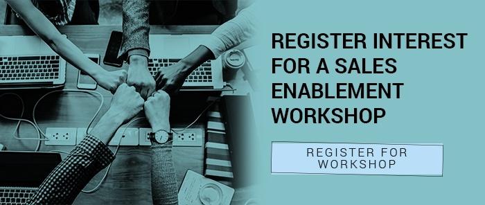 register interest for a sales enablement workshop CTA