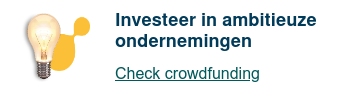 Investeer in ambitieuze ondernemingen  Check crowdfunding