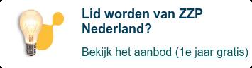 Extra steun nodig? Lid worden van ZZP Nederland is nu gratis  Bekijk het aanbod