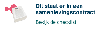 Checklist samenlevingscontract