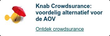 Knab Crowdsurance: financieel vangnet voor ondernemers  Meld je aan