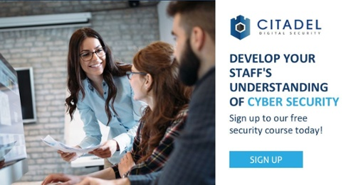 Citadel Cyber Security Awareness Training course sign up