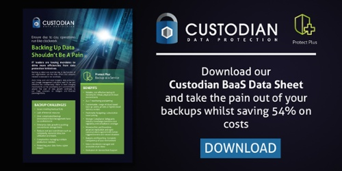 Custodian Backup as a Service data sheet download