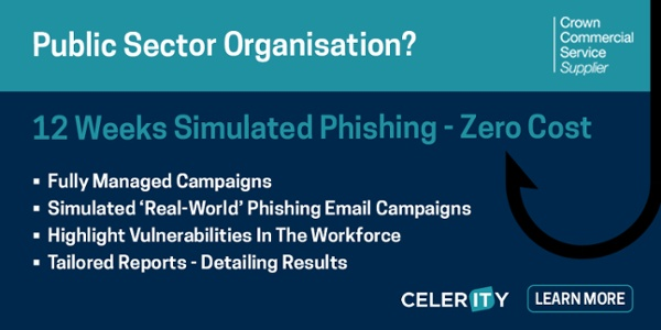 12 weeks free simulated phishing as a service fro public sector organisations to help protect through covid-19