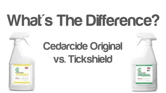 tickshield vs. cedarcide original