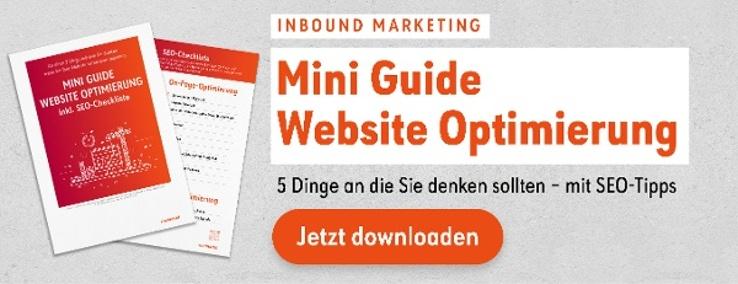 Mini Guide Website Optimierung jetzt downloaden