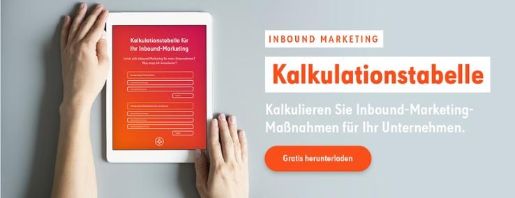 Kalkulationstabelle Inbound Marketing