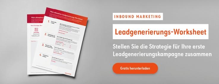 Leadgenerierung Worksheet Inbound Marketing