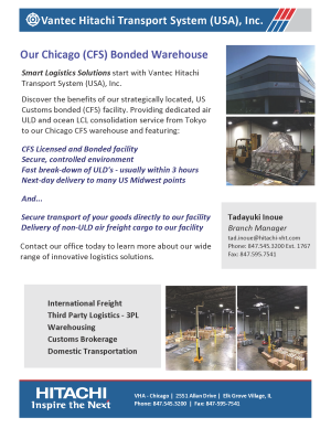 CFS Bonded Warehouse Chicago