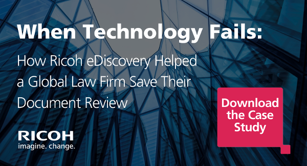 Intelligent Review Case Study Ricoh eDiscovery