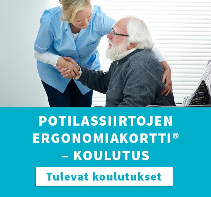 Potilassiirtojen ergonomiakortti -koulutus tulevat koulutukset