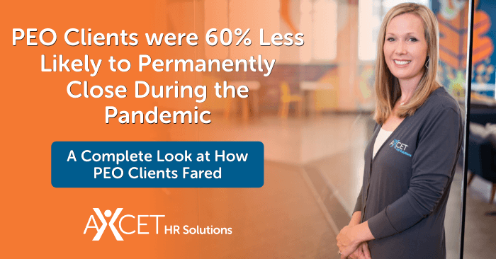 PEO Clients were 60% Less Likely to Permanently Close During the Pandemic