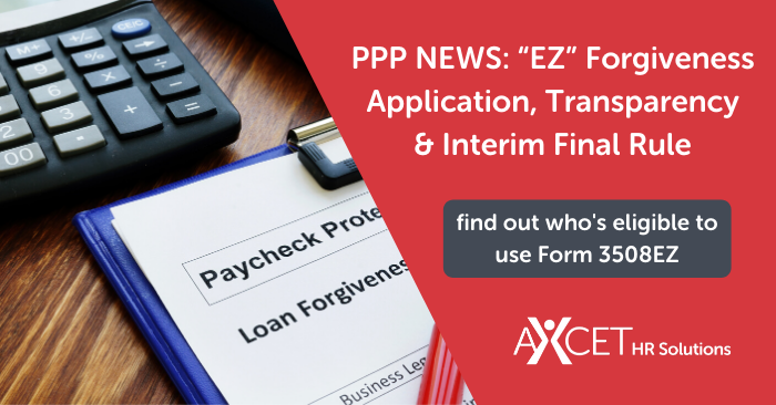 PPP EZ Forgiveness Application and Interim Final Rule