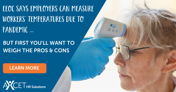 EEOC says employers can measure employees' body temperatures due to covid-19