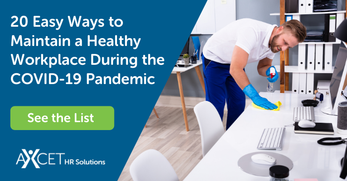 20 Easy Ways to Maintain a Healthy Workplace During the COVID-19 Pandemic
