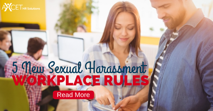 5 New Sexual Harassment Workplace Rules