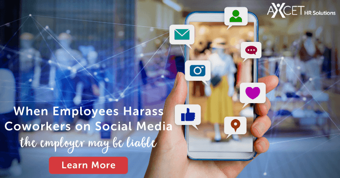 when employees harass coworkers on social media the employer may be liable