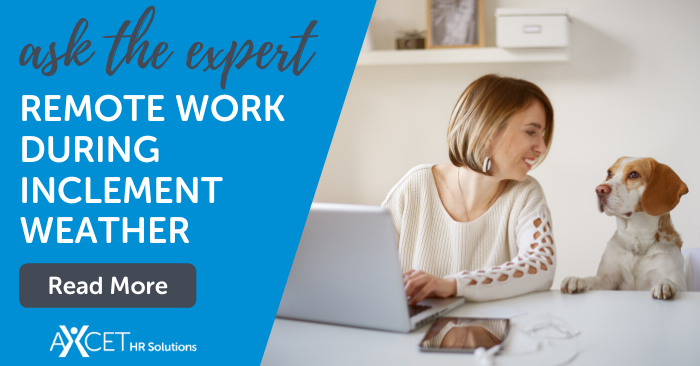 ask the HR expert remote work during inclement weather