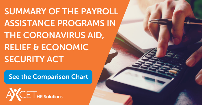 summary of the payroll assistance programs in the coronavirus aid, relief and economic security act CARES Act