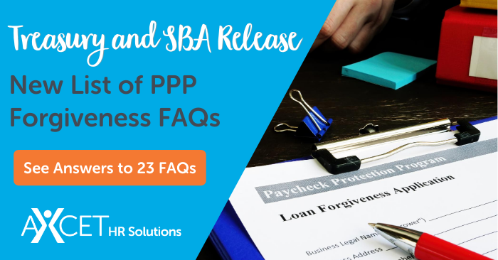 SBA Treasury Department Release List of 23 New PPP FAQs