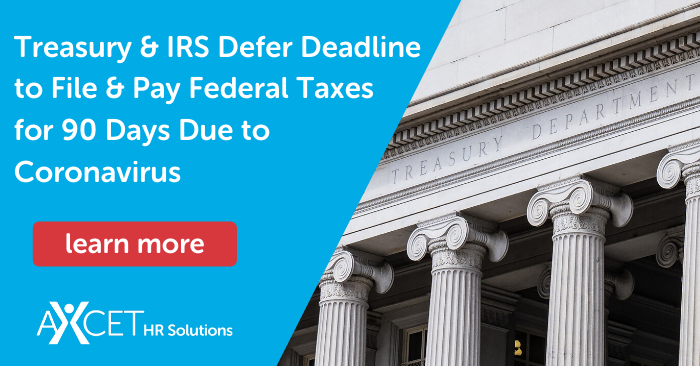 Treasury and IRS Defer Deadline to File and Pay Federal Income Tax