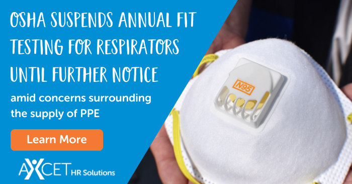 OSHA Suspends Annual Fit Testing for Respirators