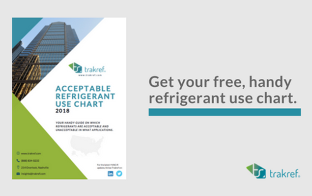 Free refrigerant use chart updates with latest information on the court case on a 2015 EPA Refrigerant Rule