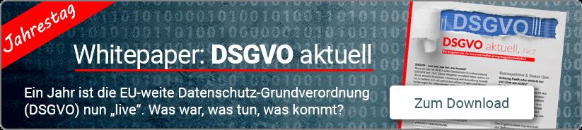 Jetzt Downloaden: Whitepaper DSGVO aktuell - Ausgabe 2