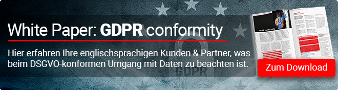 Zum englischsprachigen Whitepaper GDPR conformity