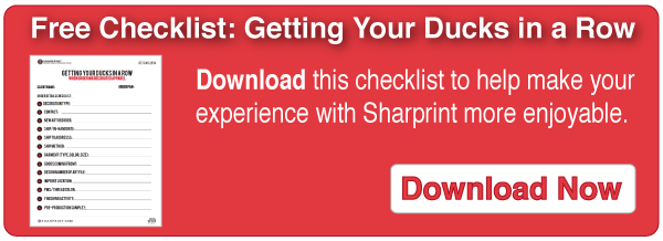 Free Checklist: Getting Your Sucks in a Row | Sharprint