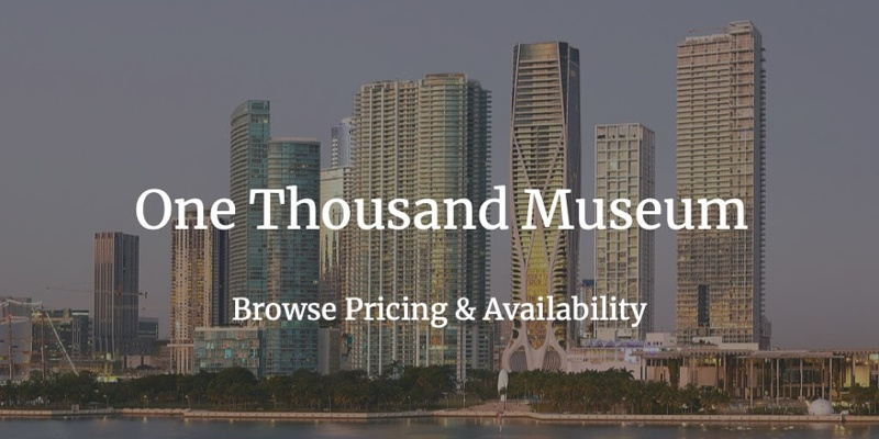 1000 Museum Apartments for Sale