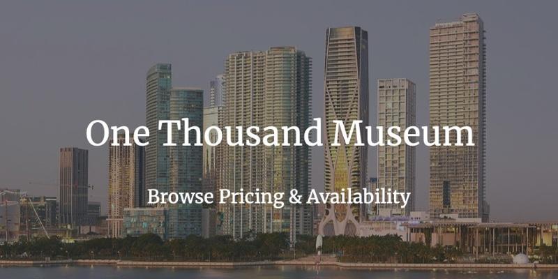 1000 Museum 아파트 판매