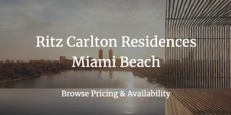 Ritz Carlton Residences Miami Beach for Sale