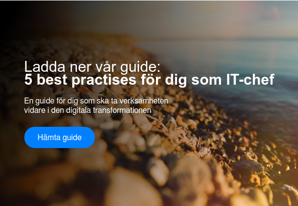 Ladda ner vår guide:  5 best practises för dig som IT-chef  En guide för dig som ska ta verksamheten  vidare i den digitala transformationen Hämta guide  <https://www.visolit.se/whitepaper-5-best-practises-for-dig-som-it-chef>