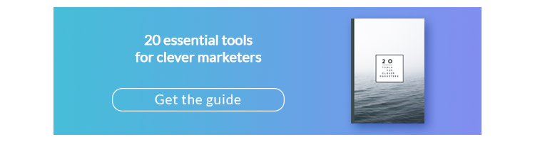 20 tools for clever marketers