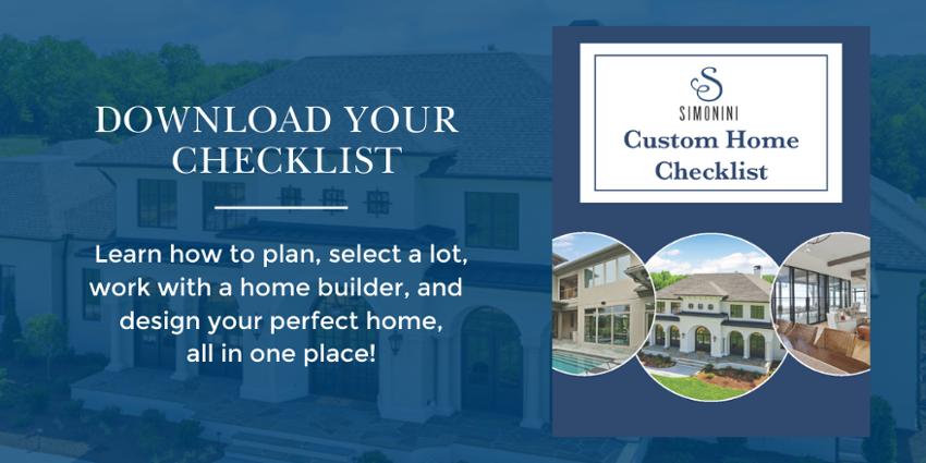 Custom Home Checklist CTA
